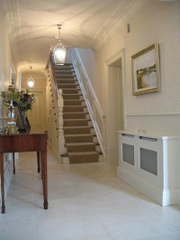 Mahogany and Cream Staircase By Haughey Joinery Ltd