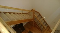 Oak and Glass Staircase By Haughey Joinery Ltd
