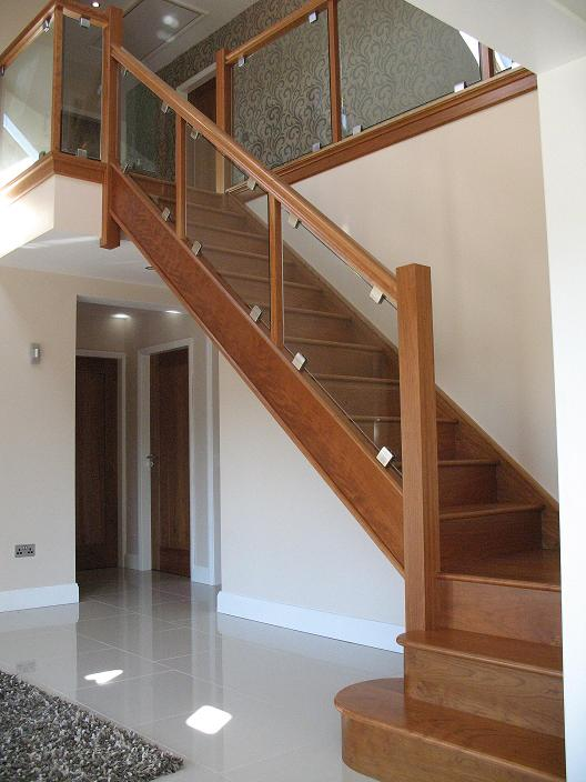 ... Stunning Cherry Staircase Glass Side By Haughey Joinery Ltd Stunning Oak  ...