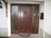 57mm External Single Doors with 3-point locking system Pre-finished.