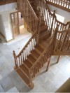 Stunning central staircase by Haughey Joinery, Letterkenny, Co. Donegal