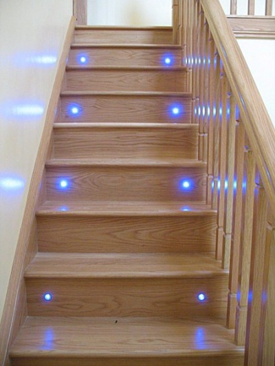 Cut String Staircase With LED Lights By Haughey Joinery, ...